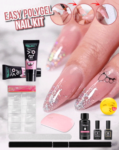 DIY PolyGel Nail Kit - Berry Scotch