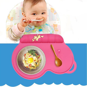 Baby Silicone Plate Slip-Resistant - Berry Scotch