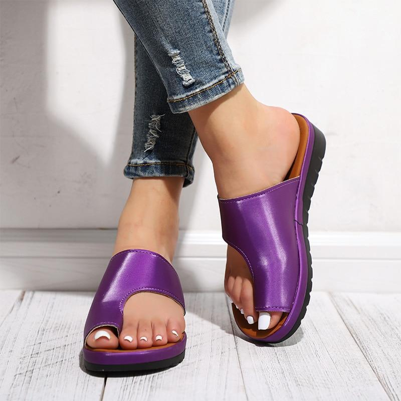 Comfy Bunion Correcting Sandal Shoes - Berry Scotch