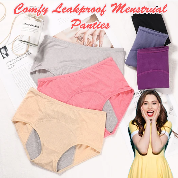 Comfy Leakproof Menstrual Panties (3 Pcs/Set) - Berry Scotch
