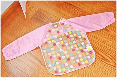 Colorful Baby Bibs Long Sleeve - Berry Scotch