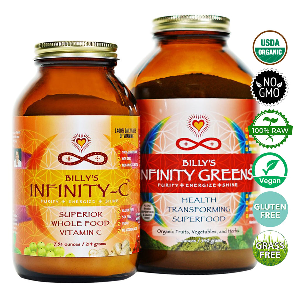 Infinity Greens Powder + Infinity-C Powder Bundle