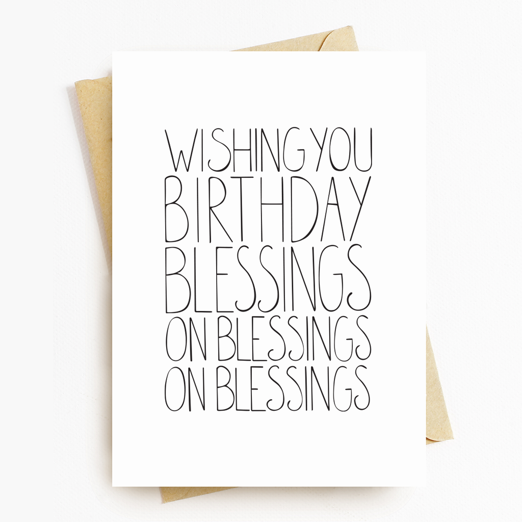 """Birthday Blessings"" Greeting Card"