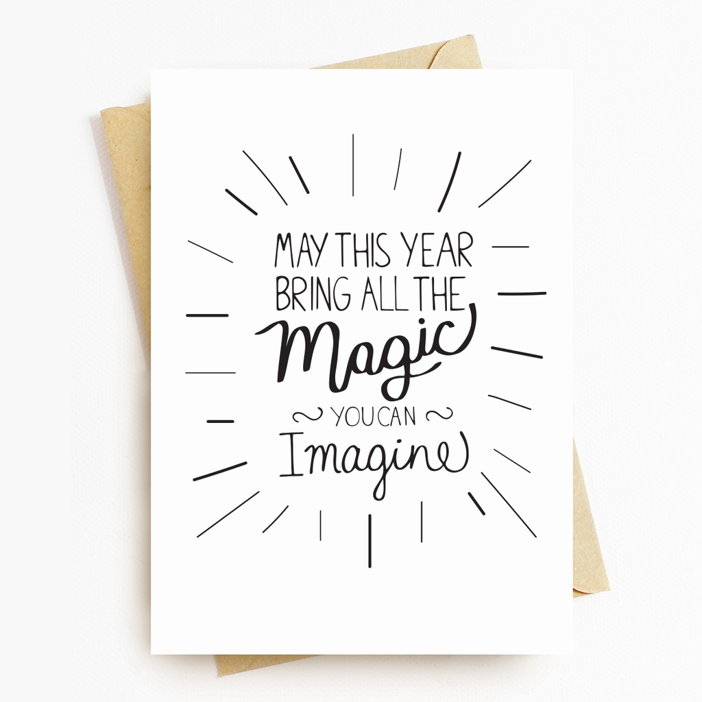 Birthday Magic Motivational Greeting Card