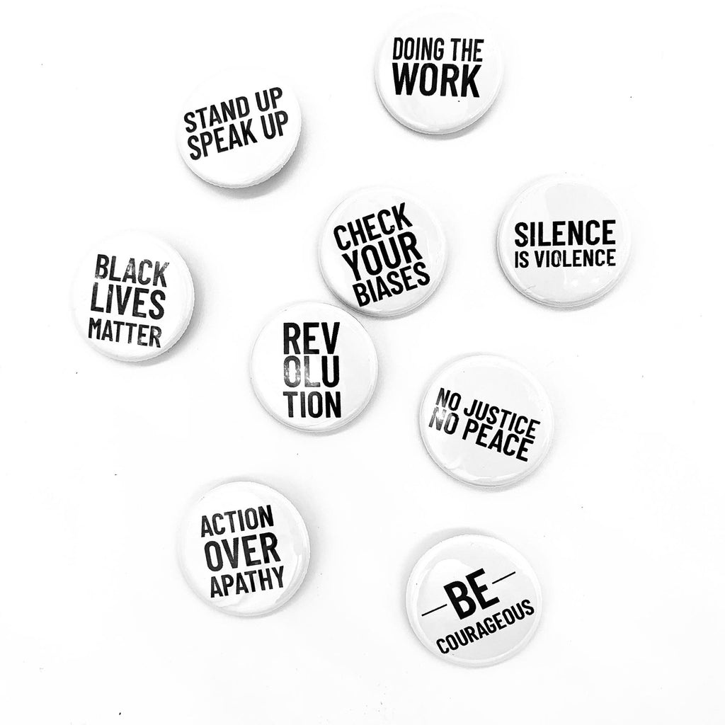 Black Lives Matter Button Set
