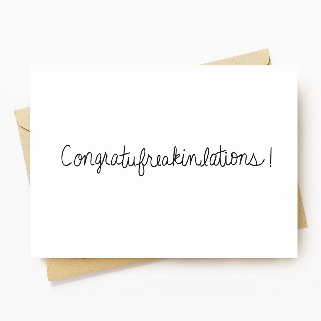 Congrats Motivational Greeting Card
