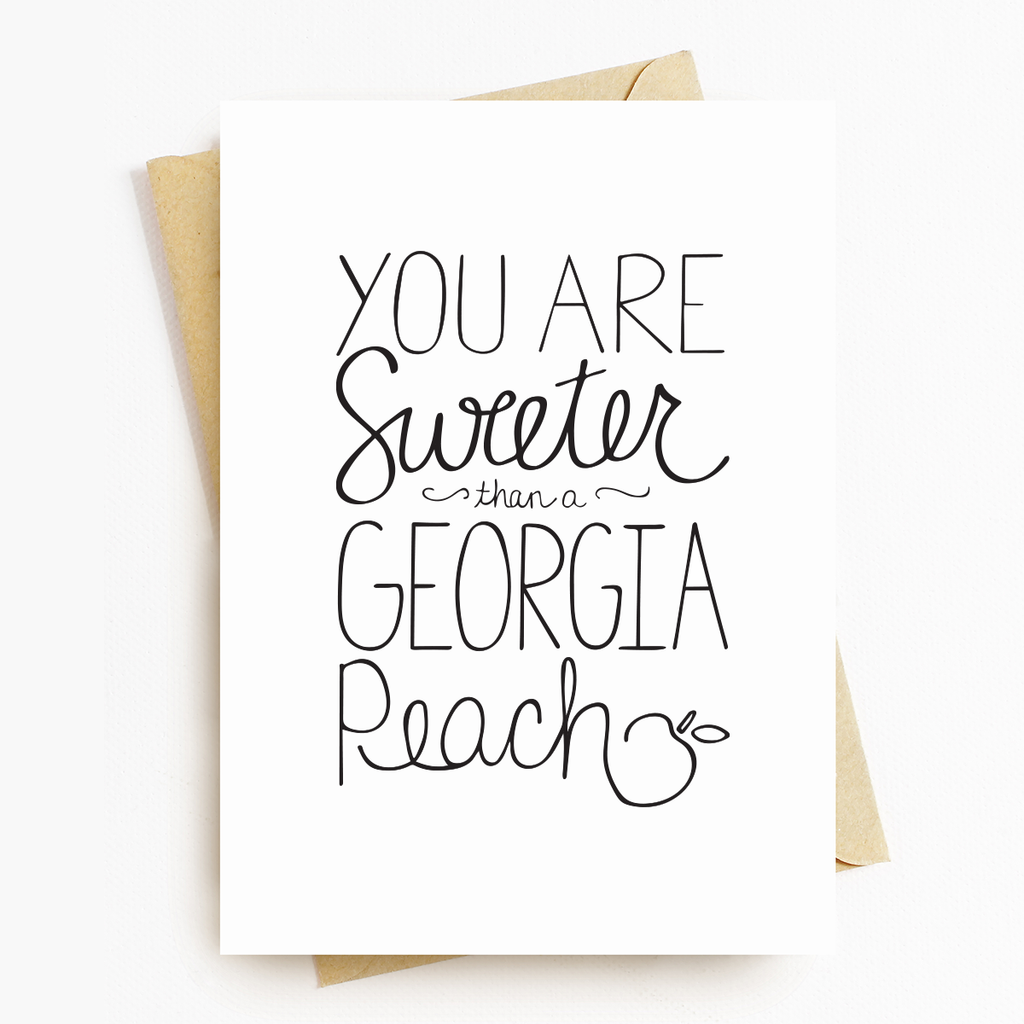 """Sweeter Than A Georgia Peach"" Greeting Card Set"