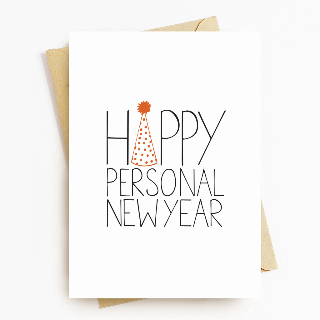 Happy Personal New Year Birthday Greeting Card
