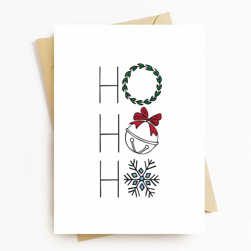 Ho Ho Ho Holiday Greeting Card