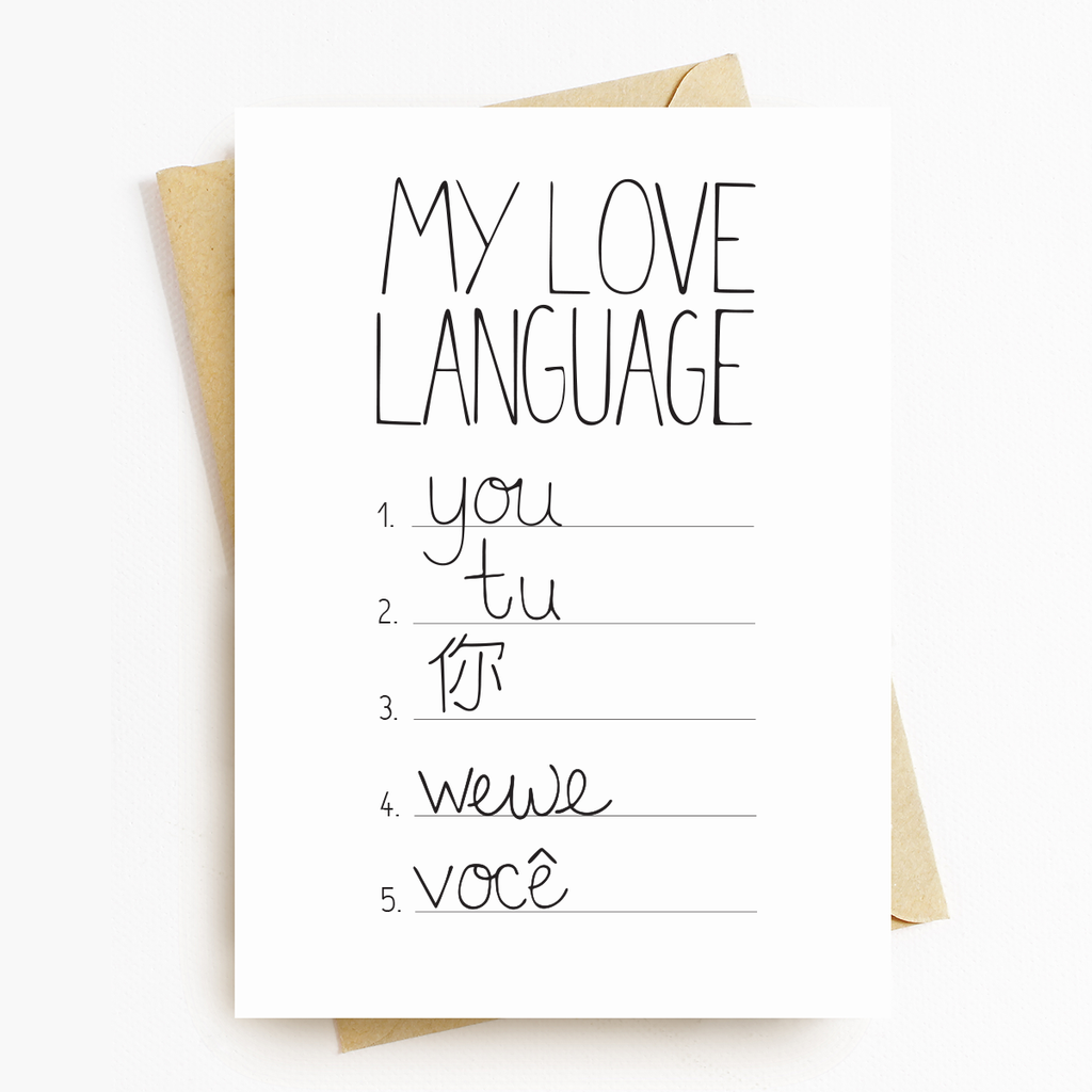 """Love Languages"" Motivational Greeting Card"