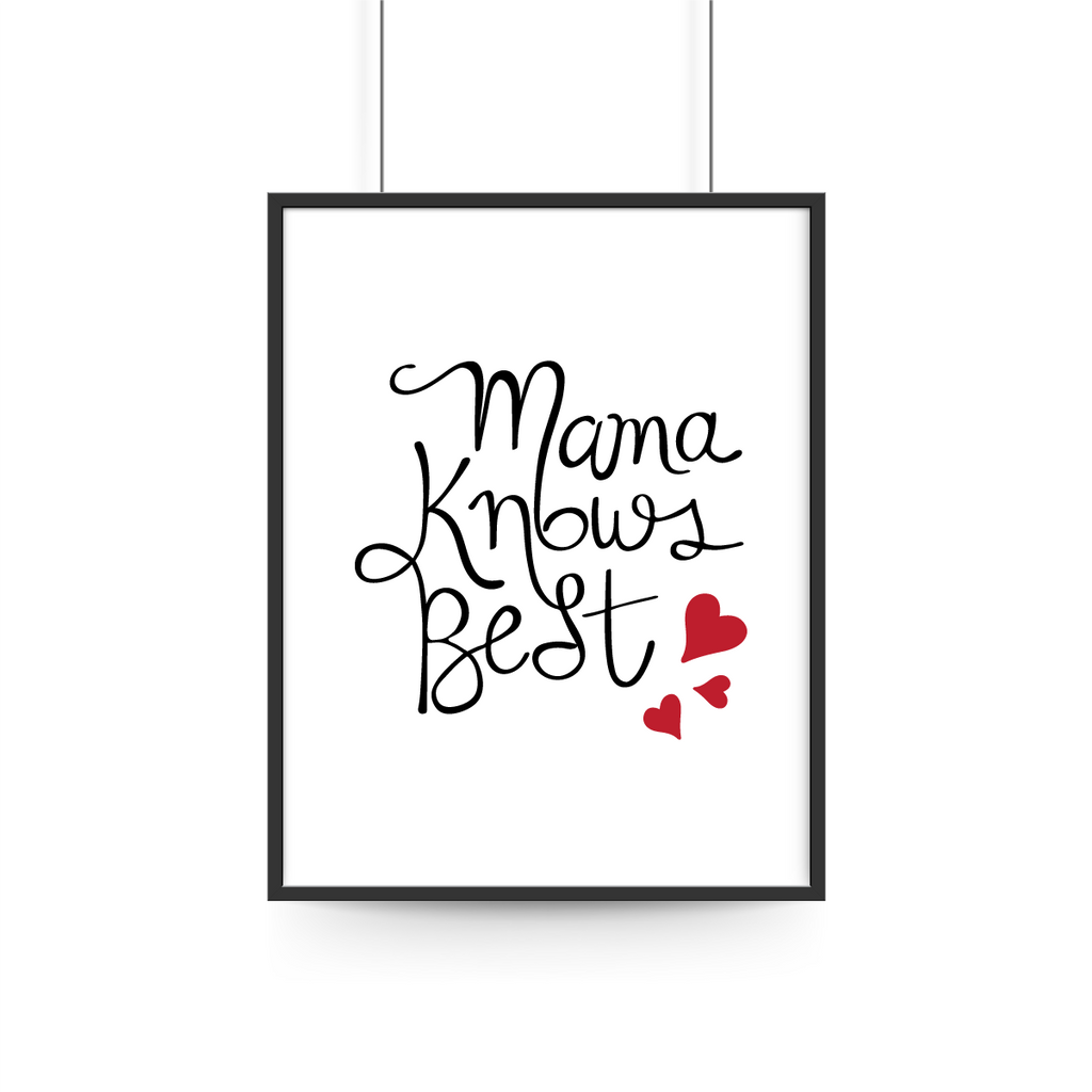 Mama Knows Best Print - Cursive Typography