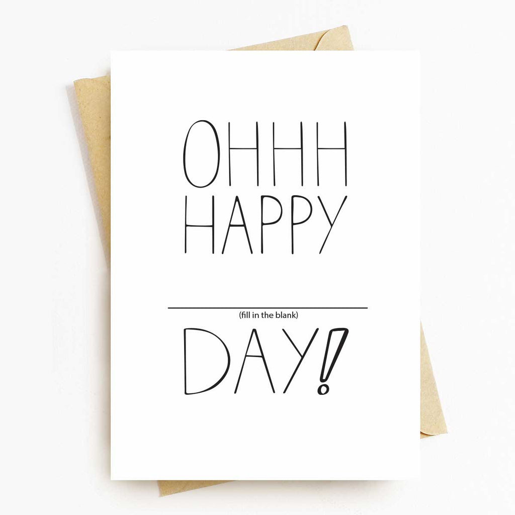 Oh Happy Day Fill-in-the-Blank Greeting Card