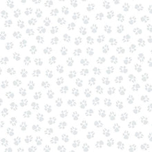Load image into Gallery viewer, Paw Prints White/Grey