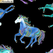Load image into Gallery viewer, Reigning Horses Black/Multi