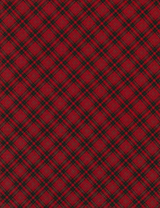 Holiday Bias Plaid Red