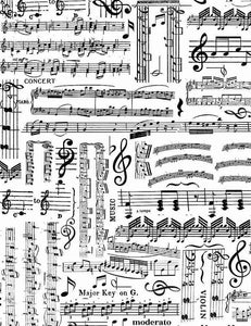 Music Sheets White