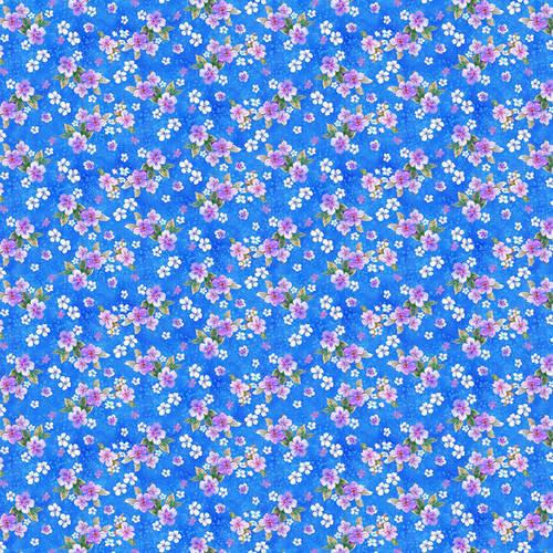 Small Floral - Cyan