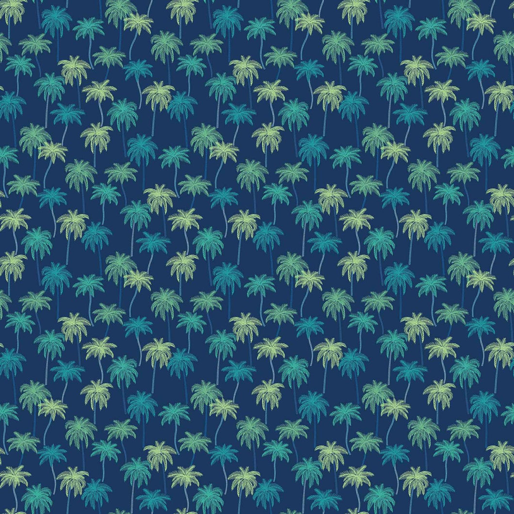 Oasis - Palm Trees - Navy