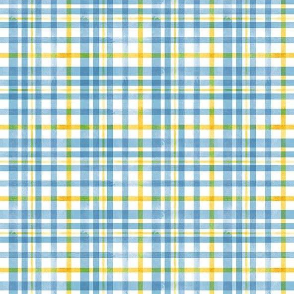 Beehive Plaid - Blue