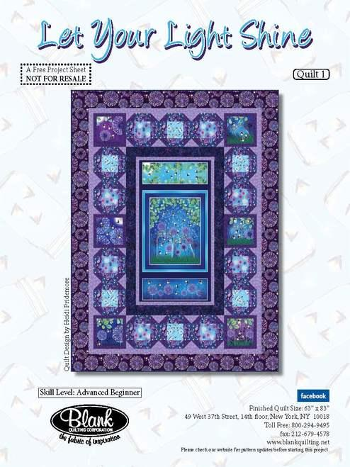 Let Your Light Shine Kit 63 x 83 Pattern Included