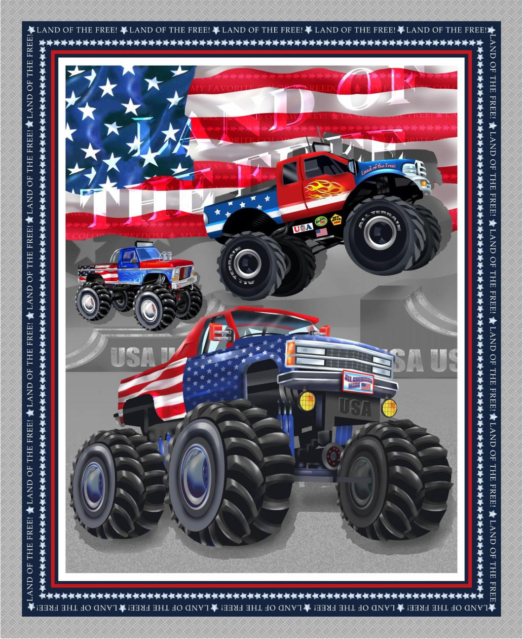 Monster Trucks Banner Panel
