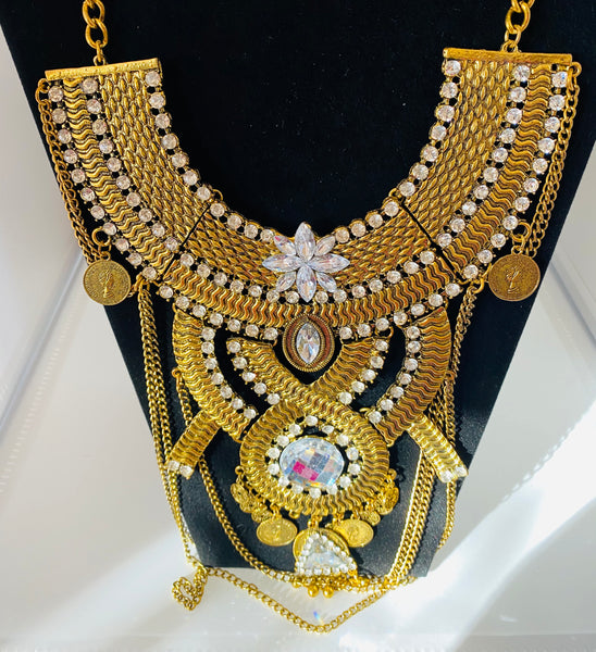 Multi-layered Breastplate Statement Necklace