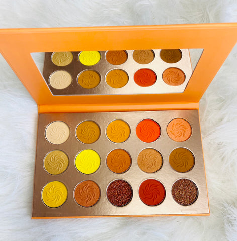 Orange sunset eyeshadow palette