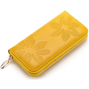 Jewel genuine leather RFID wallet