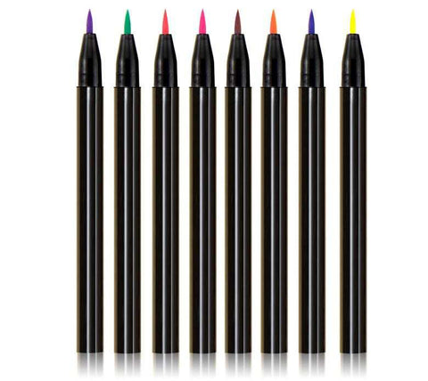 Color your world colored liquid eyeliner