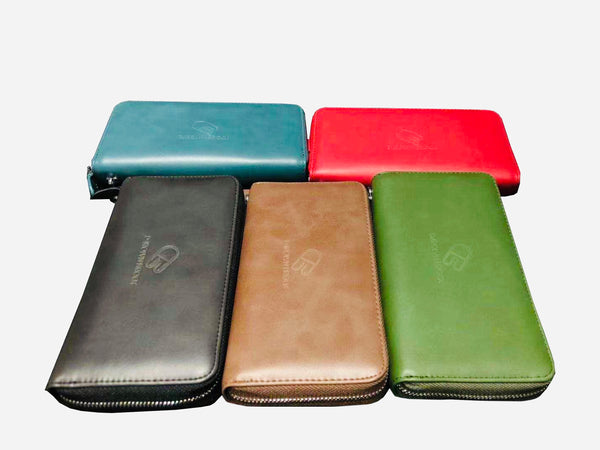 Doris RFID genuine leather phone holder wallet