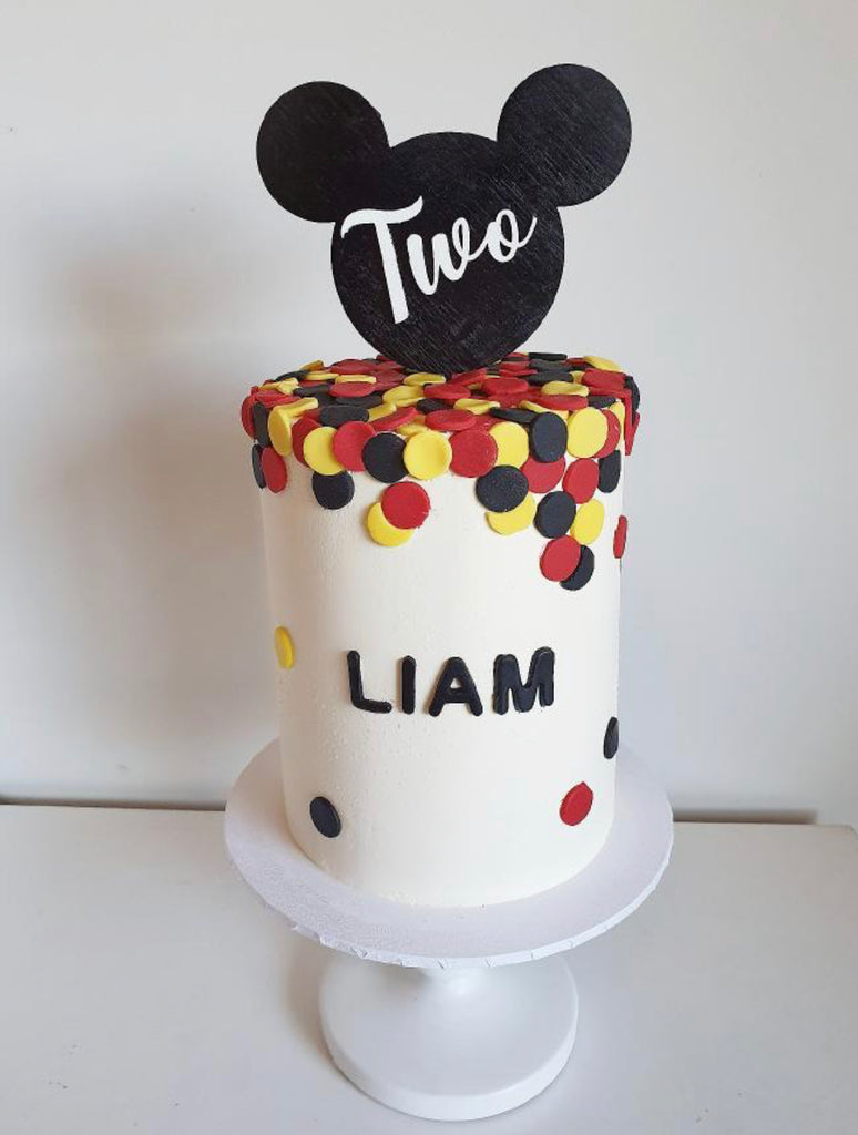 MOUSE NUMBER CAKE TOPPER