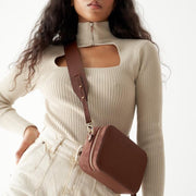 Adjustable Wide Shoulder Strap Classic Brown