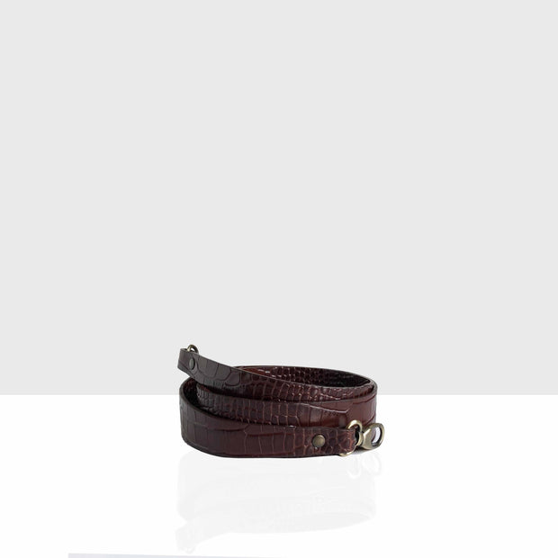 Non-adjustable Strap Chocolate Croc