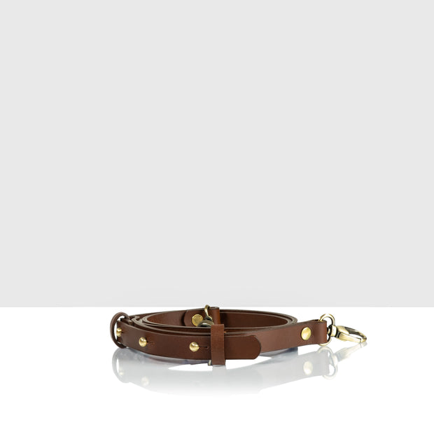 Narrow Waist Adjustable Belt Classic Brown