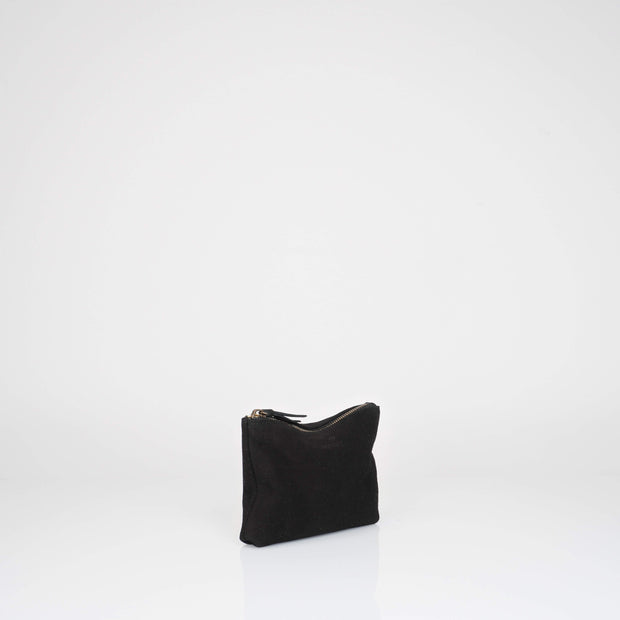 Black Suede Pouch