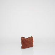 Brown Suede Pouch