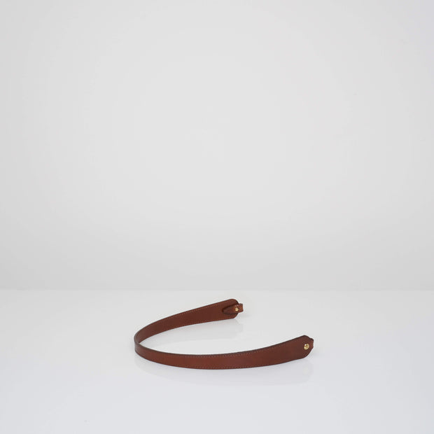 Non-adjustable Shoulder Bone Strap Classic Brown