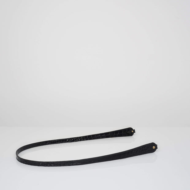Non-adjustable Shoulder Bone Strap Black Croc Mat
