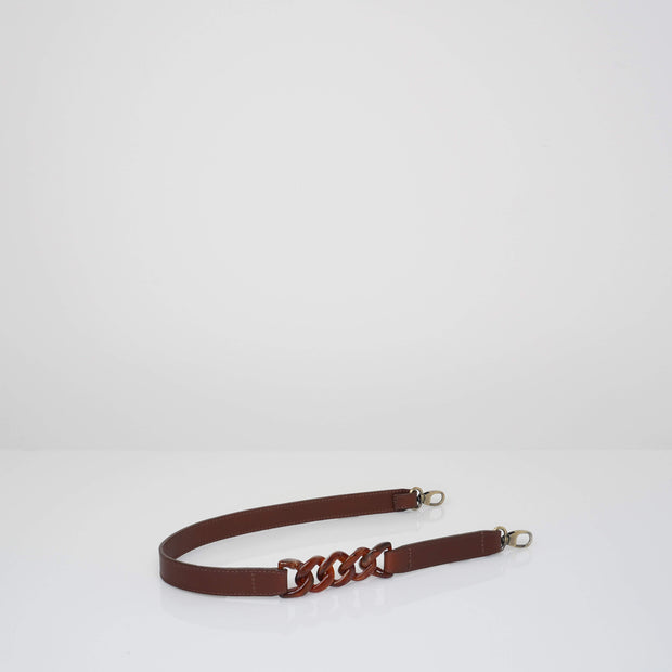 Shoulder Strap x Chain Classic Brown