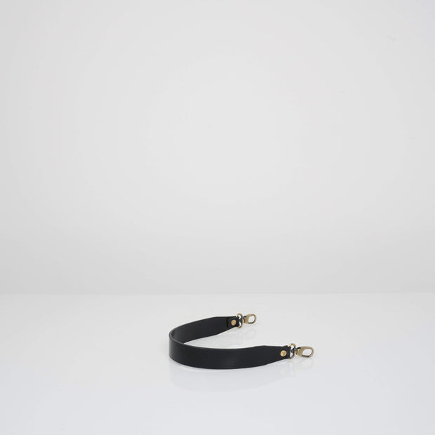 Leather Handle Glossy Black