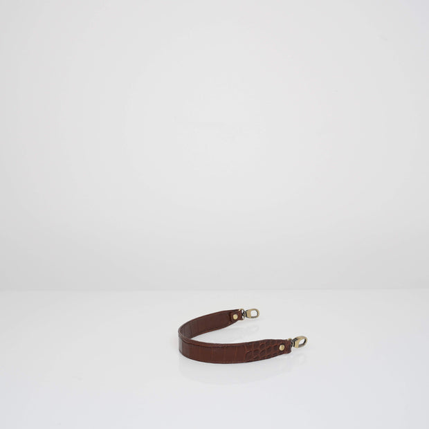 Leather Handle Caramel Croc