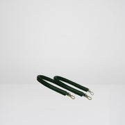 Set of 2 Round Leather Handles Bottle Green Croc