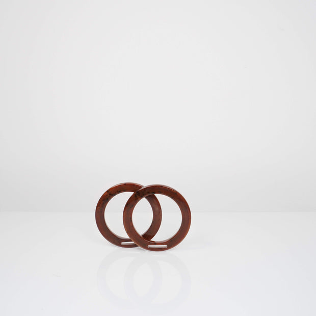 Set of Two Ring Handles - Chocolate