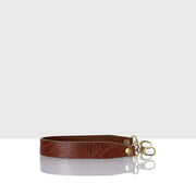 Leather Handle Brown Lizard