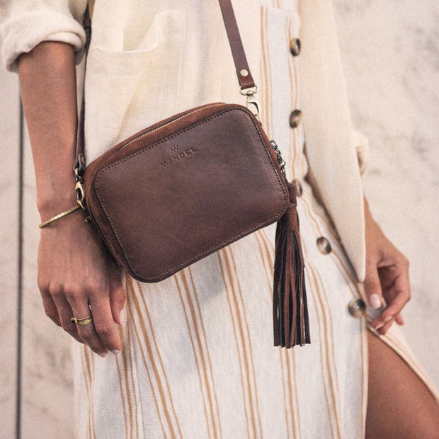 Suede Tassel Brown