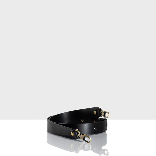 Waist Adjustable Belt Glossy Black