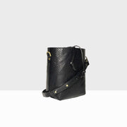 Bucket Bag Micro Black Lizard Mat