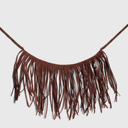 Brown Suede Fringe
