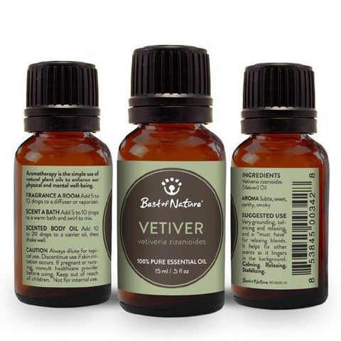 2 Best of Nature Vetiver Essential Oil