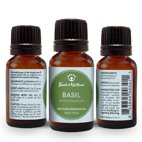 Best of Nature Sweet Basil Essential Oil